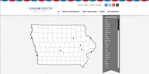 THE IOWA CAUCUS PROJECT consists of 12 students, led by professor Rachel Paine Caufield, who provide content for a website that provides caucus information and opportunities.