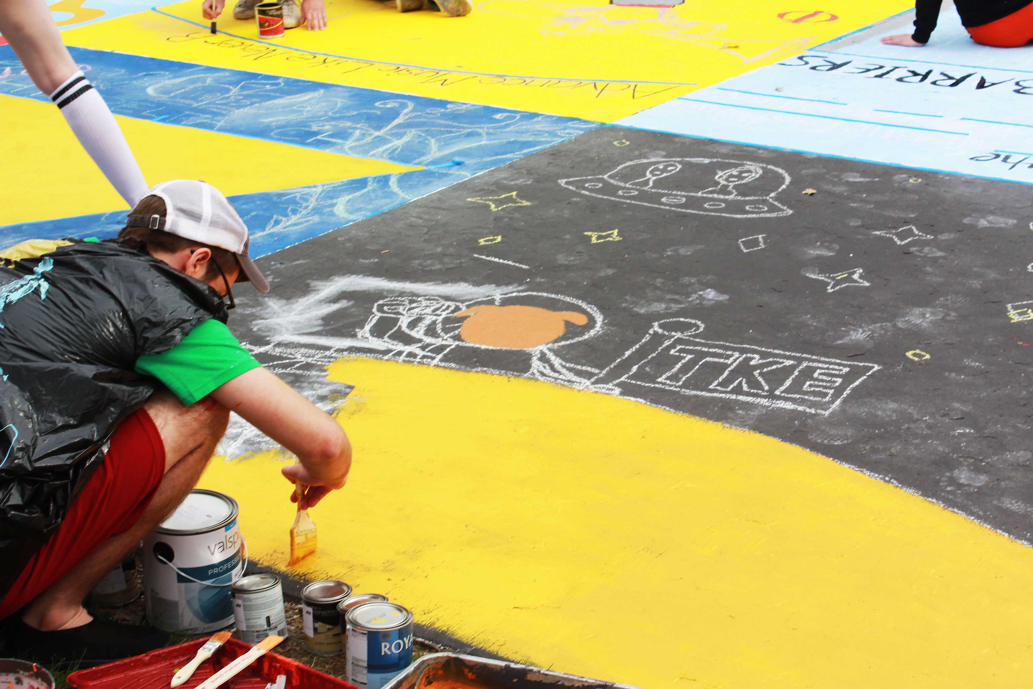 Student Painting Square